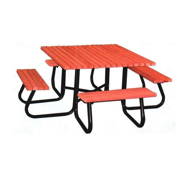 4 ft square recycled plastic picnic table with attached benches square recycled plastic picnic table with attached benches recycled plastic picnic table watchthetrailerfo