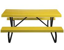 8 foot Rectangular Fiberglass Picnic Table with Bolted Frame