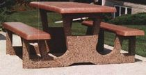 7 ft Concrete Rectangular Picnic Table with Exposed Aggregate