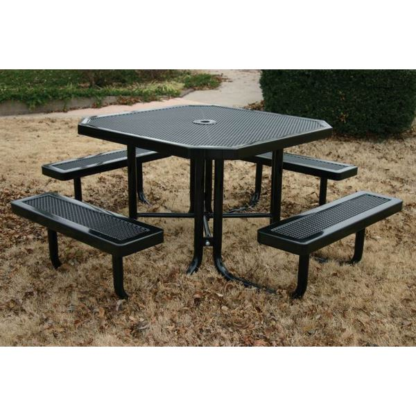 Octagonal Thermoplastic Steel Picnic Table Innovated