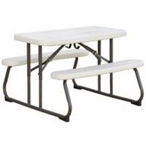 "42"" Folding Rectangular Children's Picnic Table, 25 lbs."