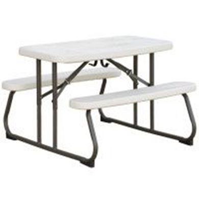 "42"" Folding Rectangular Children's Picnic Table, 25 lbs."