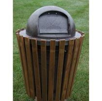 20 Gallon Trash Receptacle Pine with Steel Frame