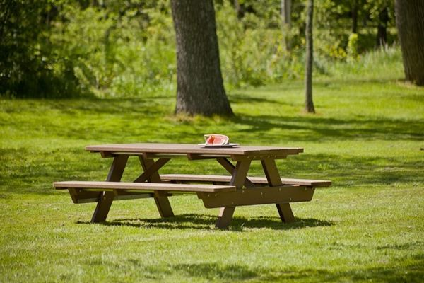 Ft Recycled Plastic Lumber Commercial Picnic Table Rectangular - Picnic table recycled plastic lumber