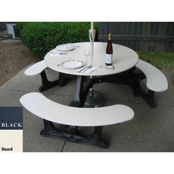 Round Recycled Plastic Picnic Table Picnic Table Store - Recycled plastic round picnic table