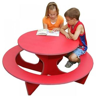 Kid S Round Recycled Plastic Activity Table 70 Lbs Picnic Table Store Commercial Grade Quality Lowest Price