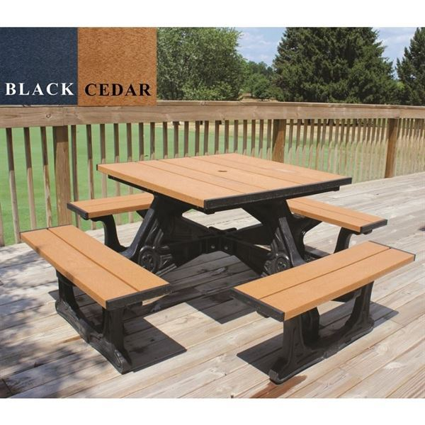 40 Square Recycled Plastic Picnic Table Picnic Table