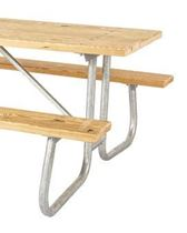 "Frame only for 6 or 8 ft. Table, 1 5/8"" Bolted Galvanized Tube, Portable"
