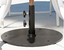 Powder Coated Steel 50 lb. Umbrella Base, Under Table Use