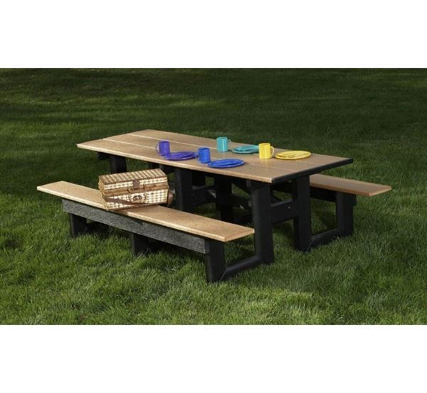 recycled plastic commercial picnic table rectangular recycled plastic commercial picnic table - Commercial Picnic Tables