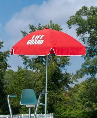 6.5 Ft. Lifeguard Umbrella with Marine Grade Fabric