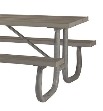 "Frame only for 6 ft. Table, Welded 2 3/8"" OD Galvanized Steel, Portable"
