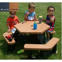 Kid's Hexagonal Recycled Plastic Picnic Table