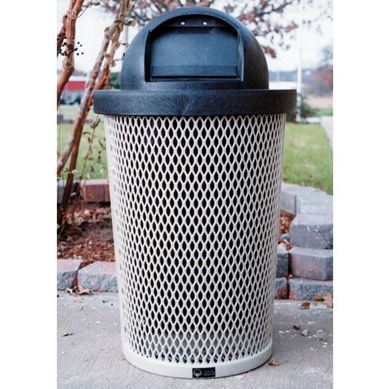32 Gallon Tapered Expanded Metal Trash Receptacle