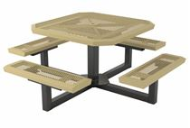 Square Thermoplastic Picnic Table Infinity Style