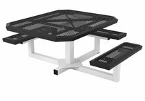 ADA Wheelchair Accessible Square Thermoplastic Picnic Table Infinity Style