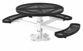 ADA Wheelchair Accessible Round Thermoplastic Picnic Table, Regal Style