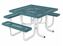 "ADA Wheelchair Accessible 46"" Square Thermoplastic Picnic Table Regal Style"