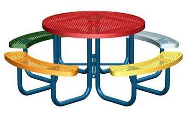 Multi-Color Round Children's Picnic Tables