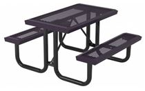 Rectangular Thermoplastic Steel Picnic Table Infinity Style