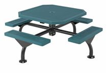 Octagonal Thermoplastic Steel Picnic Table, Innovated Style