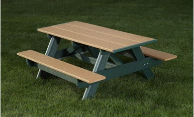 Recycled Plastic Commercial Picnic Table