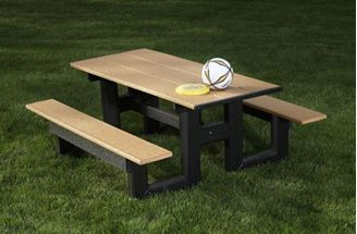 8 ft Recycled Plastic Commercial Picnic Table Rectangular