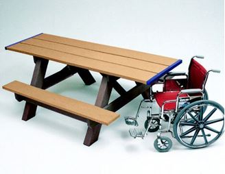 8 ft ADA Wheelchair Accessible Recycled Plastic Picnic Table