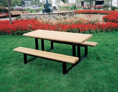 6 foot Recycled Plastic Rectangular Commercial Picnic Table