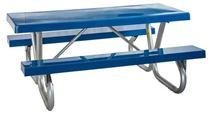 Picnic Tables 6 ft. Rectangular Fiberglass Picnic Galvanized Bolted Frame