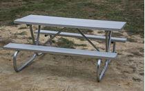 Aluminum Rectangular Picnic Tables Picnic Table StoreCommercial - Cast aluminum picnic table