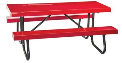 6 ft Rectangular Fiberglass Picnic Table Welded Galvanized Steel