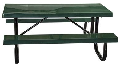 Picnic Tables 6 ft Rectangular Fiberglass Picnic Table with Galvanized Steel