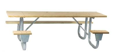 """Frame only for 6 ft. ADA Wheelchair Acessible Table, Welded 2 3/8"""" OD Galvanized Steel, Portable"""