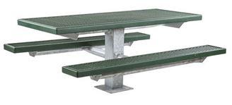 6 ft Rectangular Plastisol Picnic Table with square frame