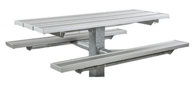 6 ft Rectangular Aluminum Picnic Table Square Tube Frame