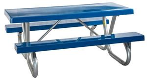 Picnic Table 8 foot Rectangular Fiberglass Galvanized Steel