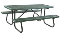 8 ft Rectangular Plastisol Picnic Table with Welded Galvanized Frames