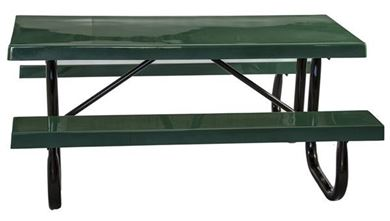 Picnic Tables 8 ft Rectangular Fiberglass Picnic Table Galvanized Steel