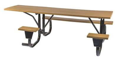 """Frame only for 8 ft. ADA Wheelchair Acessible Table, Welded 2 3/8"""" OD Galvanized Steel, Portable"""