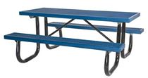 8 foot Rectangular Plastisol Picnic Table with Welded Galvanized Steel