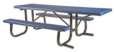 ADA Wheelchair Accessible Plastisol Picnic Table with Welded Galvanized Steel