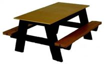 4 ft. Children's Rectangular Recycled Plastic Picnic Tables, 100 lbs.