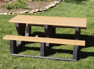 Picnic Tables Ft Rectangular Recycled Plastic Picnic Table Walk - Walk in picnic table