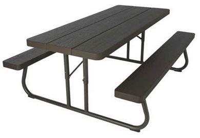 6 ft. Rectangular Folding Picnic Table