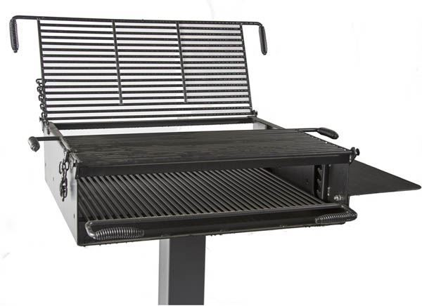 1368 Square Inch Group Park Grill Welded Steel 6 Square