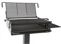 "1368 Square Inch, Group Park Grill Welded Steel 6"" Square Pedestal, Surface Mount"