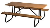 6 ft. Rectangular Windsor Select Recycled Plastic Picnic Table with Attached Benches