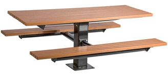 6 ft. Rectangular Windsor Select Recycled Plastic Picnic Table, Single Post Surface Mount