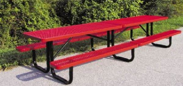 12 ft rectangular thermoplastic steel picnic table with for 12 foot picnic table
